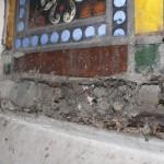 ólomüveg ablak kerete restaurálás előtt