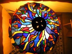 ólomüveg Tiffany lámpa