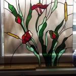 ólomüveg virágminta