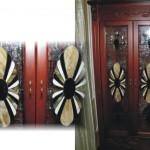 szekrény ólomüveg ajtóbetét