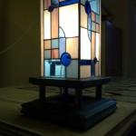 Álló Tiffany ólomüveg lámpa