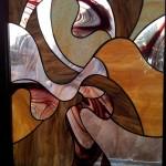 Tiffany technikával készült modern ólomüveg kép