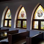 templom ólomüvegezés eredménye belülről