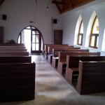 síkabonyi templom belső tere